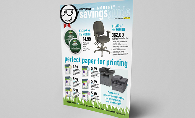Promotional flyer printing project