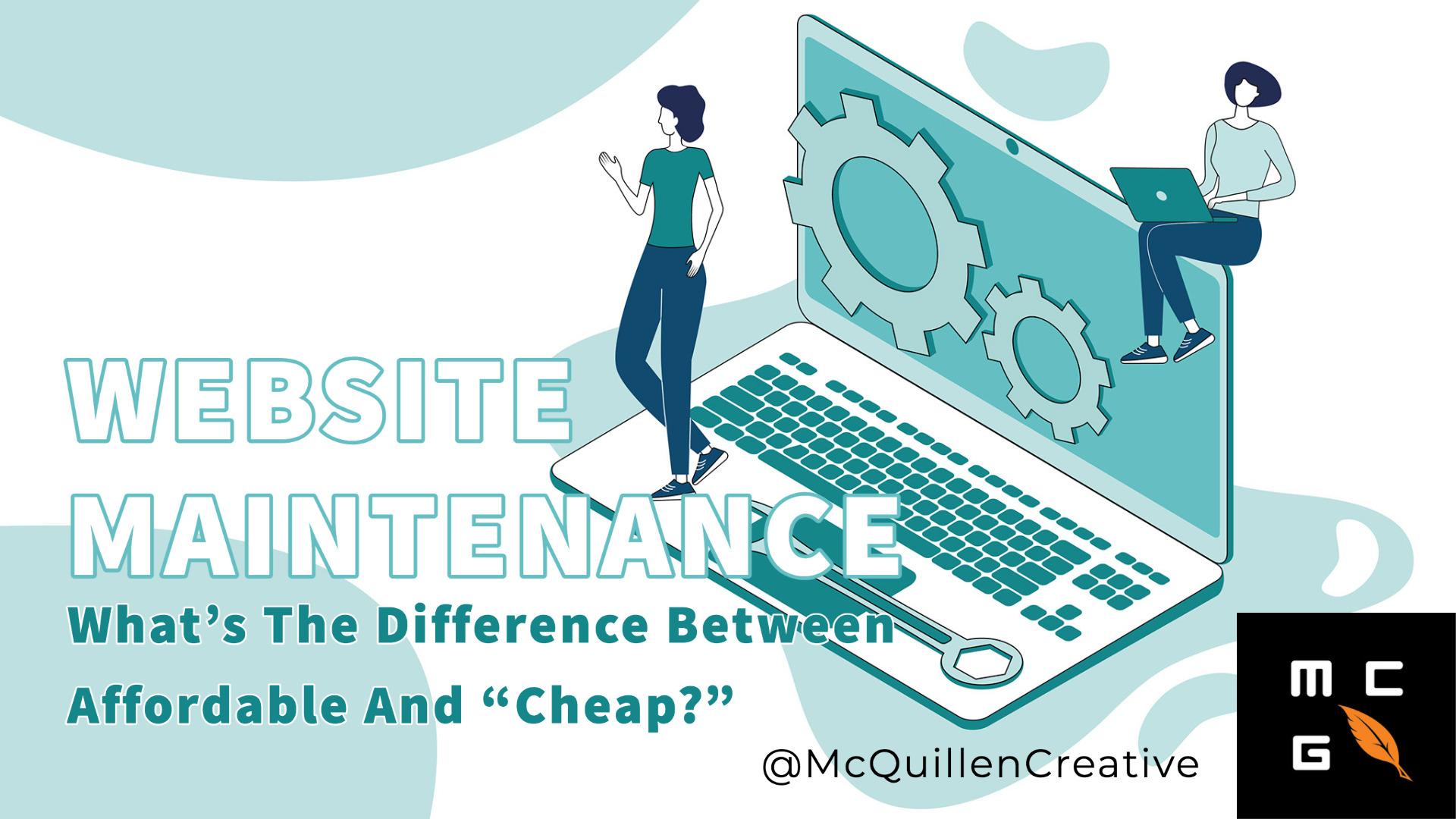 website maintenance header