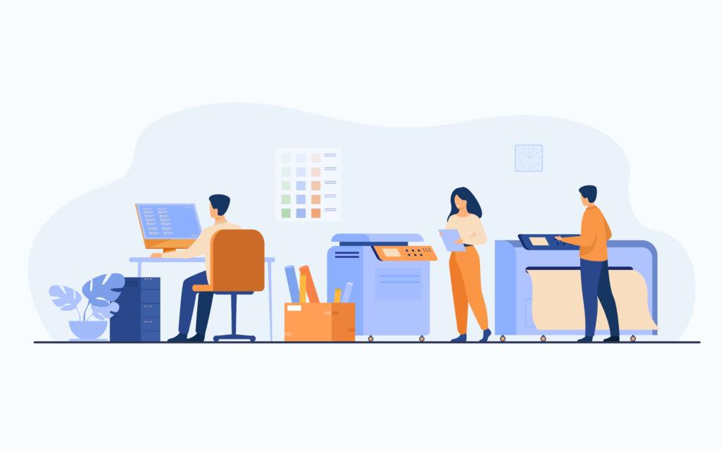 printing project illustration