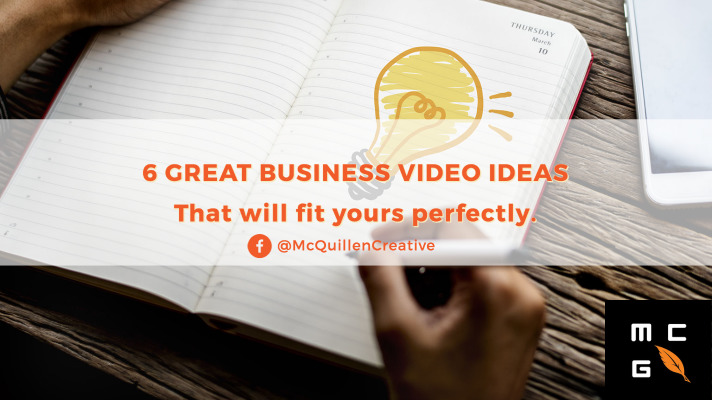 Business video ideas worth thinking about.